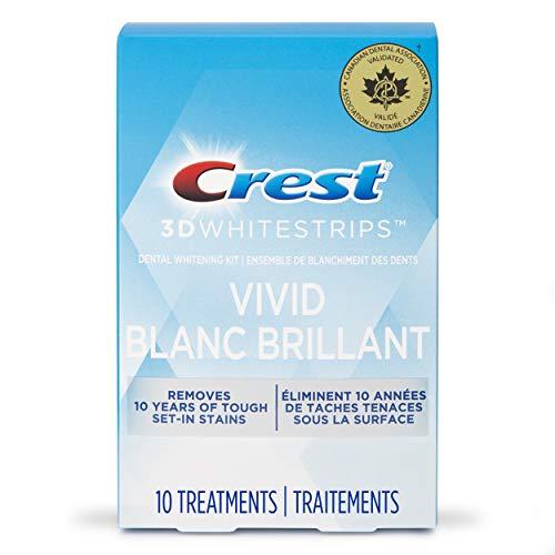 Crest 3D White Whitestrips Classic Vivid Treatments, 10 Count