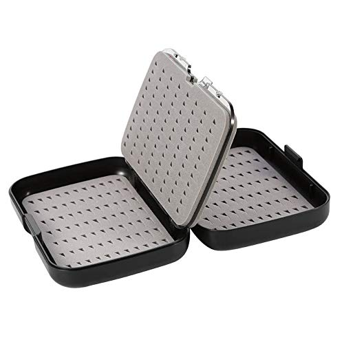 Capas de doble capas de esponja de la esponja Caja de aparejos de pesca a prueba de agua a prueba de agua Pesca de cebo de señuelo Caja de gancho Caja de pesca Accesorios de pesca ( Color : Negro )