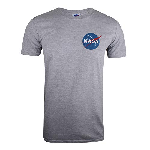 Nasa Herren Core Logo T-Shirt, Grau (Sports Grey SPO), Large