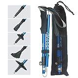 VVHU Walking Sticks -2 Pack Trekking Poles -7075 Aluminum,Collapsible,Adjustable,Quick Locks,Lightweight, Antishock for Men or Women to Trekking,Hiking,Camping, Mountaineering - 3 Colors Options(Blue)