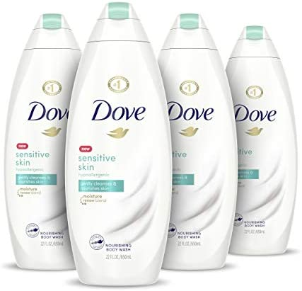 Dove Body Wash Hypoallergenic and Sulfate Free Sensitive Skin Effectively Washes Away Bacteria product image