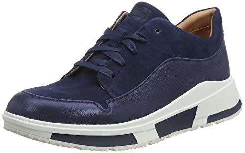 Fitflop Damen Freya Lace Up Low Top Sneaker, Blau (Midnight Navy 399), 36 EU