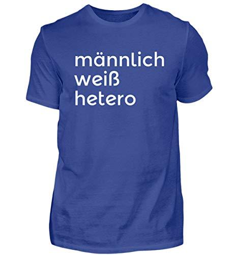 männlich, weiß, hertero | Männer Wikinger Germanen Oldschool Alte Werte Werteverfall Mann - Herren Shirt