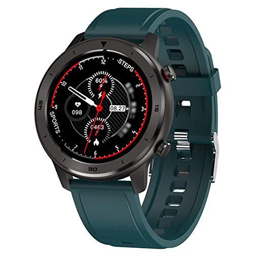 Reloj Inteligente con Monitor Sueño con Podómetro Ip68 A Prueba Agua con Frecuencia Cardíaca/Notificación por SMS Pulsera con Podómetro para Rastreador Ejercicios para iOS Y Android