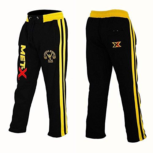 Muscle Works Gym Met-X - Pantalones de forro polar para hombre, para...