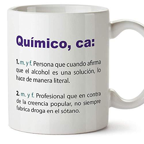 MUGFFINS Tazas Desayuno Originales de Profesiones para Regalar a Trabajadores - Tazas para químicos Tazas con Frases y Mensajes alegres y Divertidos