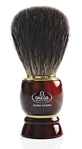 Omega 63185 de tejón Pure Badger con mango de resina