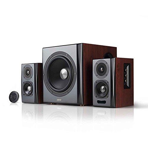 Edifier S350DB Altavoz y Subwoofer de Estantería 2.1 Sistema de Altavoz Bluetooth v4.1 Sonido aptX Inalámbrico para Ordenadores Habitaciones, Salas de Estar y Estudios