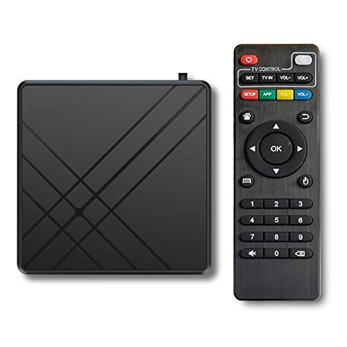 YDDX Android 10.0 TV Box, 4 GB RAM 32Gb Rom Smart TV Set Top Box, Supporta 2,4G 5G Dual WiFi, Smart TV Box Adatto per MSN, per Facebook, per Twitter, QQ, ECC.
