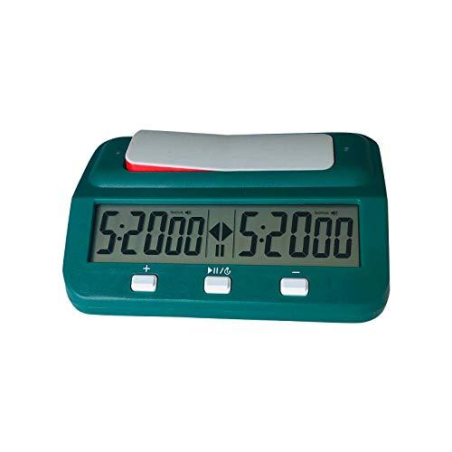 CUPPP Reloj de Ajedrez, Temporizador de Ajedrez Digital con Función de Alarma para Juegos de Tablero y Ajedrez, Ajedrez Reloj Cronómetro, Digital Profesional De Ajedrez