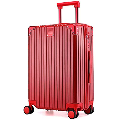 Luggage with Spinner Wheels, Expandable Strong and Sturdy with TSA Lock Spinner Carry-On High Quality Suitcase for Traveling Adults Aircraft-54 cm(20')-red