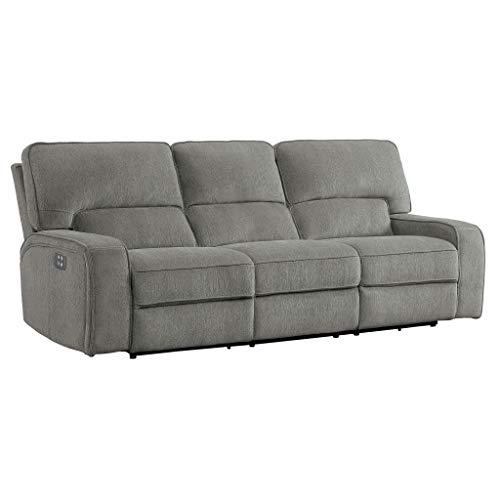 Homelegance Borneo 98' Double Reclining Sofa (Power), Mocha