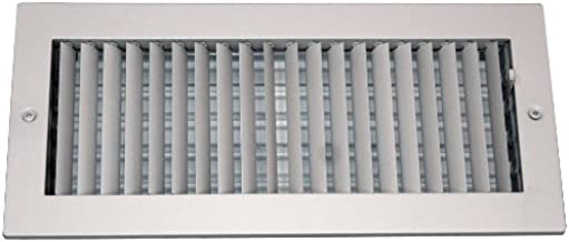 Speedi-Grille SG-610 ASD 6-Inch by 10-Inch Soft White Steel Ceiling or Wall Register with Adjustable Single Deflection Diffuser