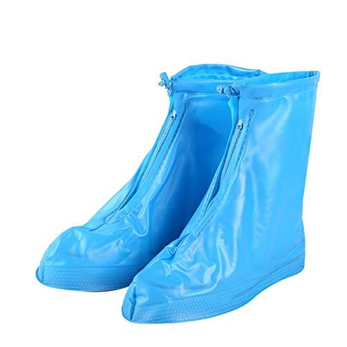 TAGVO cycling walking reusable waterproof overshoes, rain waterproof Slip-resistant shoe cover rain boots footwear cover protector with zip for Men Women Girls Boys kids