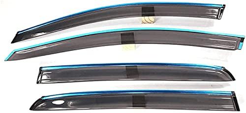 Coche Cortavientos Ventanilla Los Deflectores para VW Golf 6 2009-2013, Visera Solar Protector Lluvia Puerta Accessories