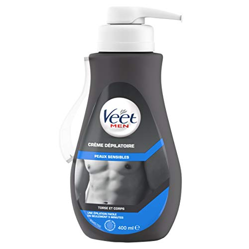 Veet Men - Crème Dépilatoire Homme - Peaux Sensibles - 400 ml