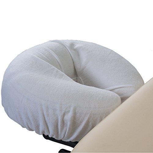 Earthlite Fundas de Almohada de Franela Dura-Luxe – 100% algodón Natural de Franela para masajes, Fundas de Cuna (Juego de 2), Color Blan