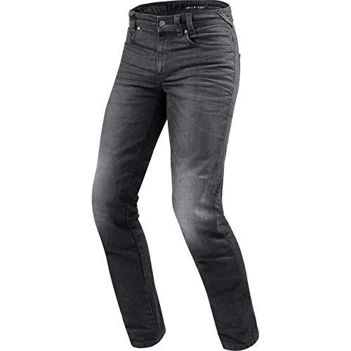 REV'IT! Motorrad Jeans Motorradhose Motorradjeans Vendome 2 RF Jeanshose dunkelgrau Used 32/34, Herren, Chopper/Cruiser, Sommer, Textil