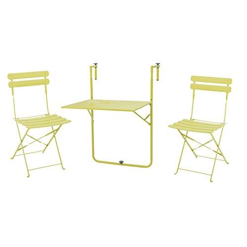 Mojawo Table Pliante Table de Camping Table Suspendue pour Balcon Table de Balcon Rabattable Blanc 60/x 40/cm