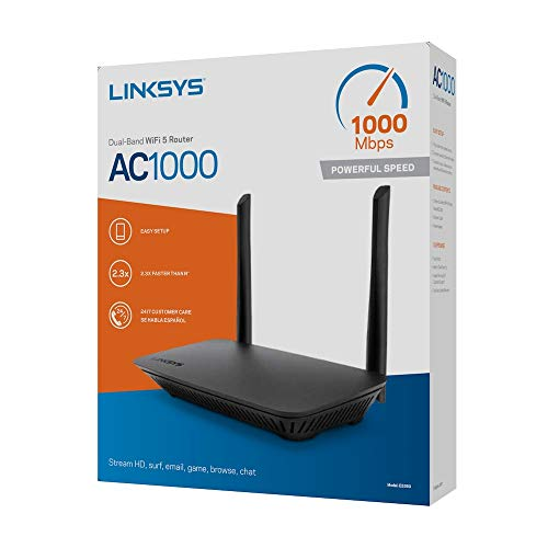 Linksys WiFi Router Dual-Band AC1000 (WiFi 5) Delivers Enhanced 1.0 Gbps Speed, Range, and Security