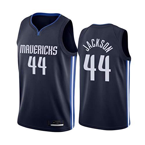 TGSCX Hombre y Mujer NBA Jersey Dallas Mavericks 44# Jackson Baloncesto Entrenamiento Ropa Deportes y Ocio Secado rápido Vestido sin Mangas,B,M