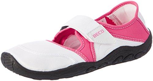 Beco Damen Surf-Und Badeschuh, Weiß/Pink, 38