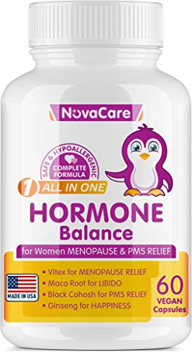 Menopause Relief Supplement - Hormone Balance for Women - Black Cohosh for PMS Relief - Menopause Weight Loss Supplement - Reduce Menopause Symptoms Hot Flashes, Mood Swings,Night Sweats - 60 Capsules