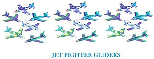 (48) JET FIGHTER Foam GLIDERS  8'' Stocking Stuffers Summer Camps  PATRIOTIC  Santa Toy  Classroom Teacher Gifs  Holiday Fairs Festivals Party Favors  Planes Crafts TOYS  by RIN