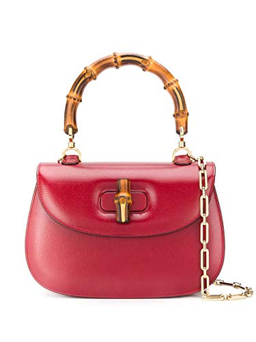 Luxury Fashion | Gucci Dames 5173371DB0G6638 Rood Leer Handtassen | Lente-zomer 20
