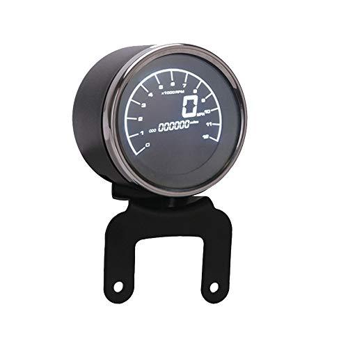 No-branded Odometer Spur Motorrad-Digital-Kilometerzähler Tachometer Kraftstoffpegelanzeige Anzeige-LED Multifunktions Motorrad Gauges Instruments ZHQHYQHHX (Color : Without Sensor, Size : Kostenlos)