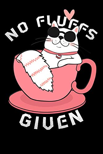 """No fluffs given: funny Lined Notebook / Diary / Journal To Write In 6""""x9"""" sun-glasses sleeping coffee cup"""
