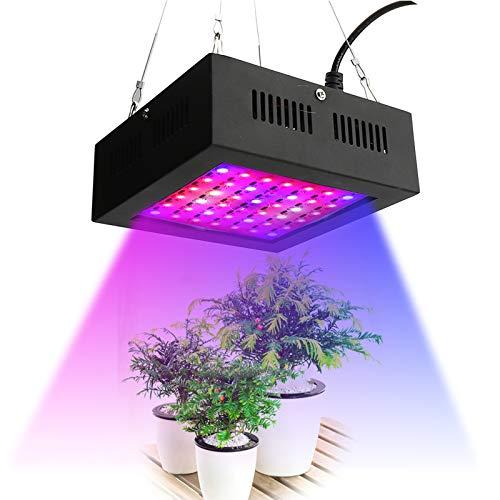 MEFKY 80W LED Plant Grow Light Spectrum Completo con Un Potente Sistema Disipación Calor para Plantas Interior Veg Y Flor