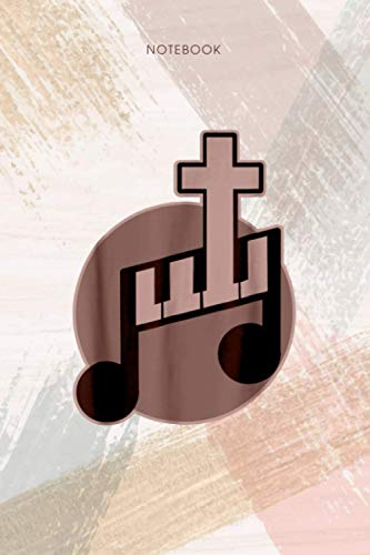 Notebook Keyboard And Cross Christian Music Piano: Event, Personal, To Do List, Life, 6x9 inch, Pocket, Appointment, 114 Pages