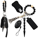 Self Defense Keychain Set, Self Defense Weapons Protection for Women with Safety Alarm and Kubaton Window Breaker Kit Self Defense Stick Cute Keychain for Women