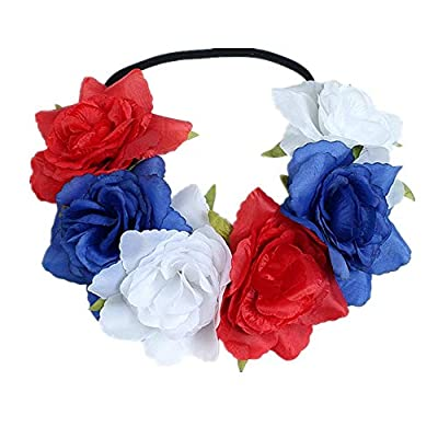 St. Patrick's Day Floral Flower Crown Elastic & Stretches Headband Costumes Festival headpiece for Adult