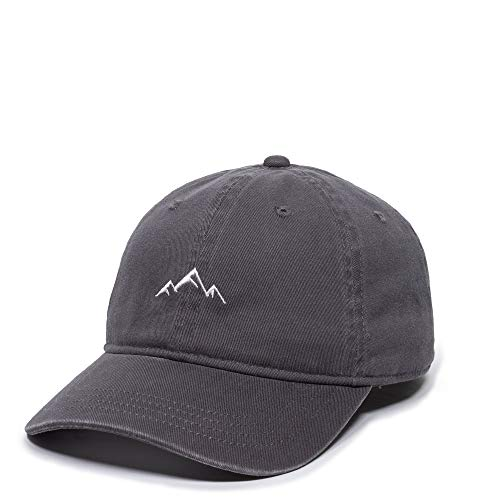 Outdoor Cap Mountain Embroidered Dad Hat – Adjustable Soft Cotton Polo Style Unstructured Baseball Cap for Men & Women, Charcoal