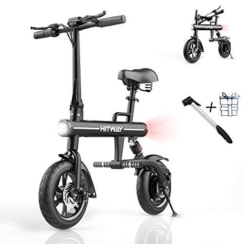 SOUTHERN WOLF Bicicleta eléctrica Bicicleta eléctrica Plegable para Adultos, Scooter eléctrico 250W Motor sin escobillas Batería 7.5Ah 3 Modos de Velocidad Máx. Velocidad 25KM / H Neumático (Negro)