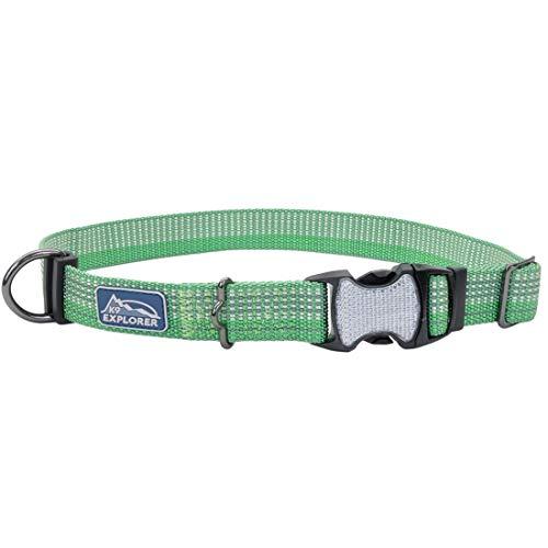 Coastal - K-9 Explorer - Brights Reflective Adjustable Dog Collar, Meadow, 5/8' x 12'-18'
