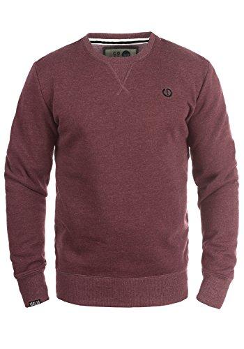 !Solid Benn O-Neck Herren Sweatshirt Pullover Pulli Mit Rundhalsausschnitt, Größe:L, Farbe:Wine Red Melange (8985)