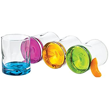 Libbey Impressions Colors Double Old Fashioned Glass Set, 8-Piece