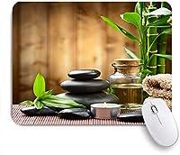 マウスパッド 竹の木の葉ブラックホワイト ゲーミング オフィス最適 高級感 おしゃれ 防水 耐久性が良い 滑り止めゴム底 ゲーミングなど適用 用ノートブックコンピュータマウスマット