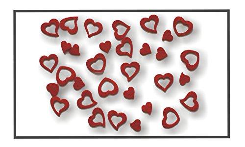 Herz, Herzen aus FILZ. Streudeko. 5 Gramm ca 50 Teile. Ca 2-3cm. In ROT rt
