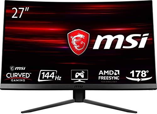 "MSI MAG271C - Monitor Gaming de 27"" LED FullHD 144Hz (1920 x 1080p, Pantalla Curva de 1800R, 1 ms, Brillo 300 nits, Anti-Glare, NTSC de 1 y SRGB DE 1.15) Negro"