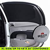 XL/Car Window Sun Shades for Contoured SUVs Windows up to 48 x 25 in. Mesh Shade Socks for Baby. Covers Fully. 2-Pack