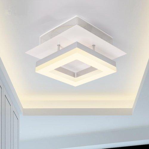 LightInTheBox - Lámpara de techo de 9 W con luz LED acrílica para salón, dormitorio, comedor, cocina, color blanco cálido