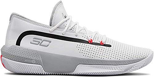 Under Armour Sc 3zer0 Iii Zapatos de Baloncesto Hombre, Blanco (White/Mod Gray/Mod Gray (100) 100), 43 EU