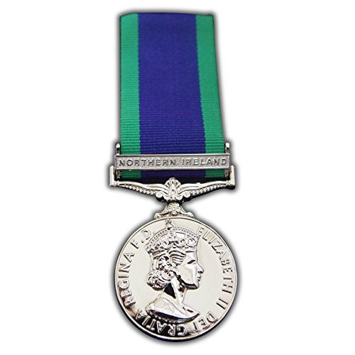 Trikoty Full SIZE GENERAL SERVICE MEDAL WITH NORTHERN IRELAND CLASP - NI GSM 1962 REPRO