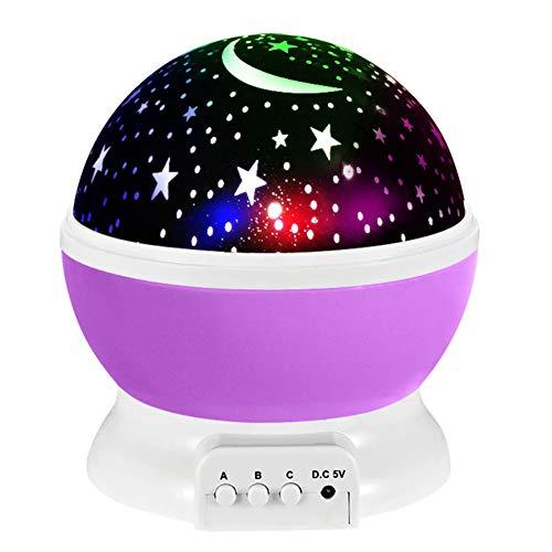 Sangshi Luces de Noche Led Giratoria Proyector Cielo Estrellado Niños Dormitorio Decorativo Romántico Lámpara de Proyección Regalos