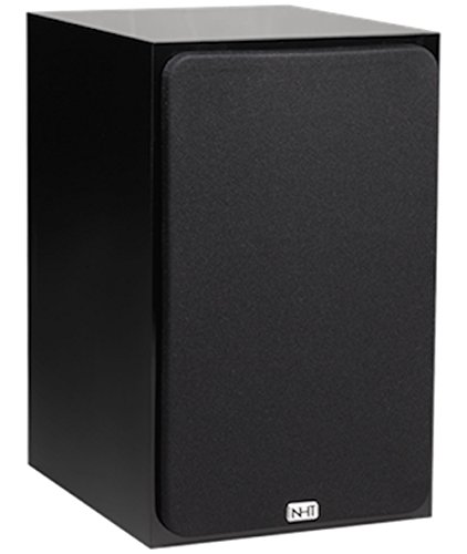 NHT SuperOne 2.1 Premium Home Theater Bookshelf Speaker - Clean, Hi-Res Audio | Sealed Box | Mini-Monitor | Single Unit, Gloss Black