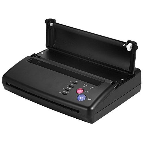 Tattoo Transfer Maschine, Tattoo Transfer Schablonenmaschine A4 A4 Kopierer Thermal, tragbare Tattoo Drucker Zeichnung Thermal Stencil Maker Kopierer Drucker Maschine mit 2 Leuchtanzeigen